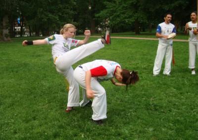 Capoeira i parken