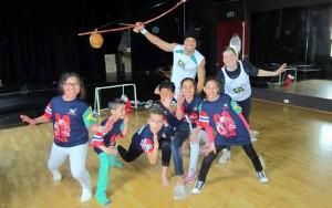 Gruppe med barn på Sinsen Kulturhus, bilde fra 2013