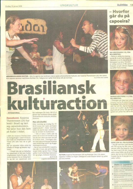 Brasiliansk kulturaction - Artikkel i Budstikka
