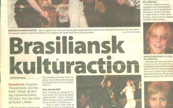 Brasiliansk kulturaction – Artikkel i Budstikka