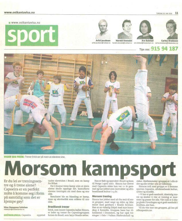 Morsom Kampsport - Artikkel i Østkantsavisa