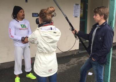 Sinuca blir intervjuet på Blåkkfestivalen 2015